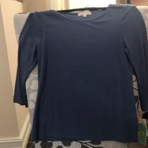 Copper Key NWT girls large light blue shirt